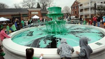 Smyrna Market Village Fountain Dyeing Ceremony